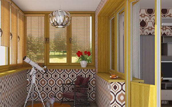 Жалюзи для балконов и лоджий в типовых домах.